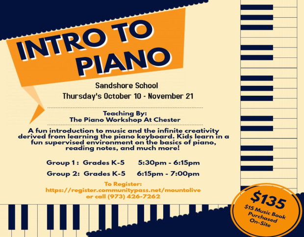 Intro to Piano Information Flyer