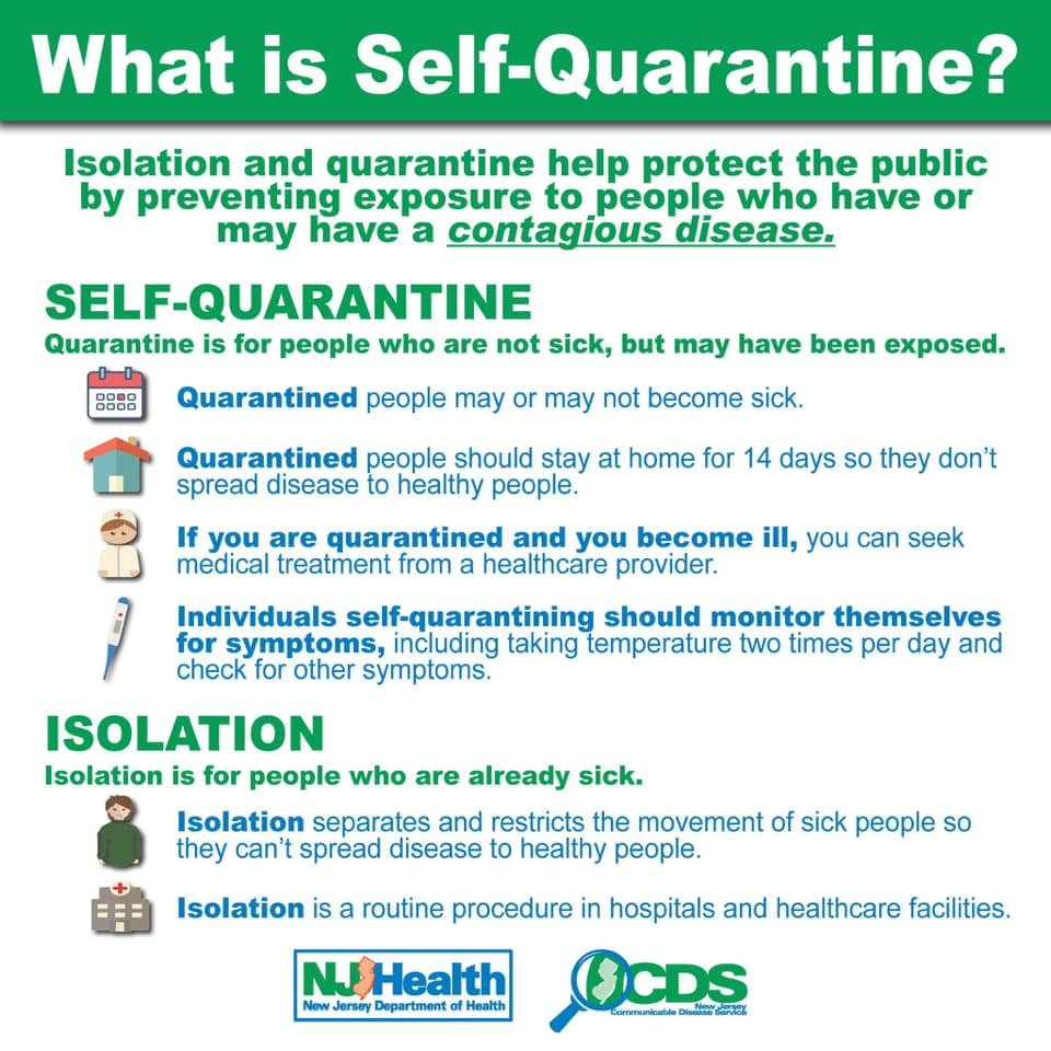 Learn the difference between Isolation and Quarantine