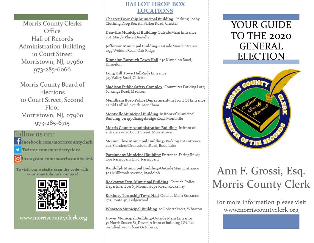 Election guide contact countyclerk@co.morris.nj.us